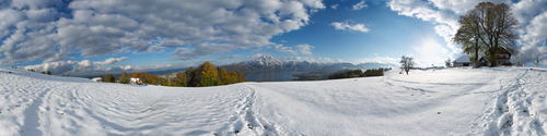 Erster Schnee am Gmundnerberg
